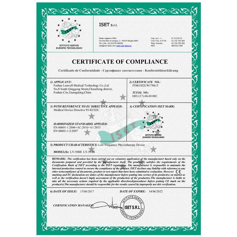 Medical CE certificate LY-508B 518B